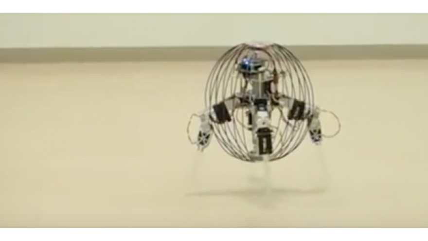 Sphere Shaped Quadrupedal Robot Overlords