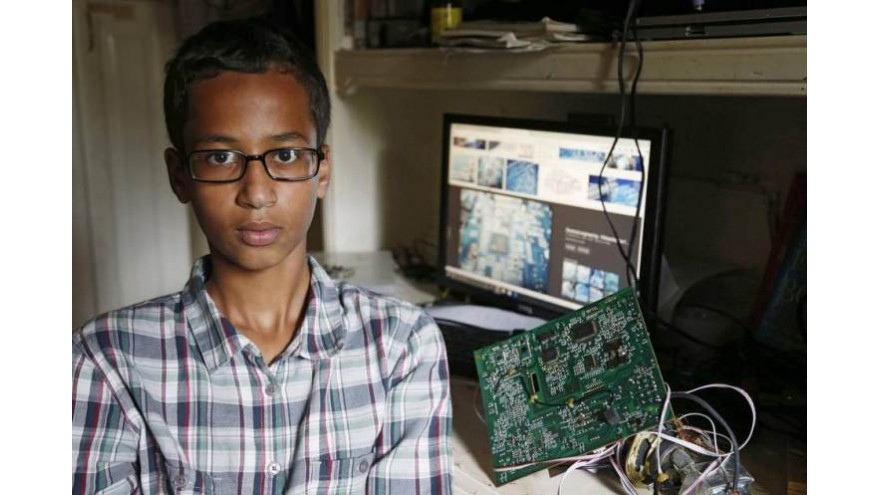 A Teenaged Arrested For Building A Clock