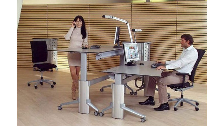 Sitting or standing at a desk will improve your health?