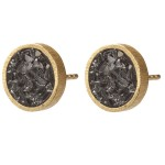 Black Rose Cut Diamond Earrings