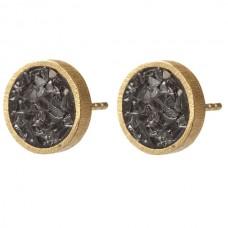 Black Rose Cut Diamond Earrings