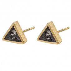 Black Rose Cut Diamond Triangle Tight Earing