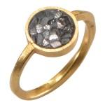 Black Rose Cut Diamond Circle Ring