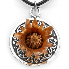 Rose of Bethlehem Round Silver Necklace