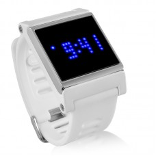 Blue LED Touch Screen Wrist Watch Time Date