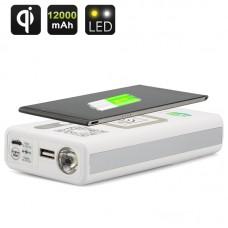 Multi Power Bank Wireless Charge 12000mAh